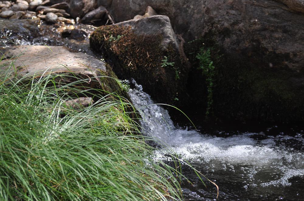 Velocidad de Obturación: 1/320s. Se ve la cascada casi nítida del todo, se ven incluso las gotas