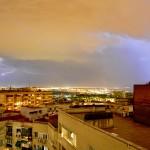 Tormenta de verano en Madrid