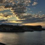 Puesta en el Faro de Cabo Mayor