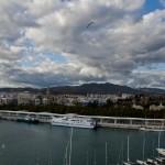 Puerto de Málaga. Dos días dos paisajes