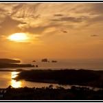Ría del Pas y la Playa de Valdearenas. Puesta de sol en Liencres
