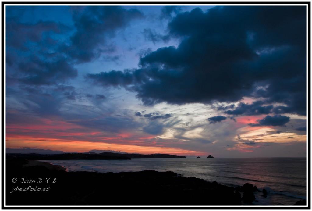 puesta de sol en liencres