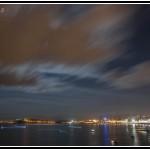 Anochece en el paseo de Mataleñas junto a Cabo Menor