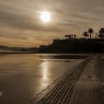 El amanecer nos deja unas bonitas imágenes en el Sardinero