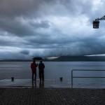 Lloviendo en la Bahía de Santander
