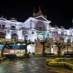 El Casino de Santander al caer la noche