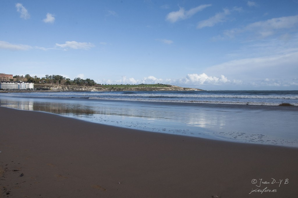 Playa del Sardinero y el Hotel Chiqui