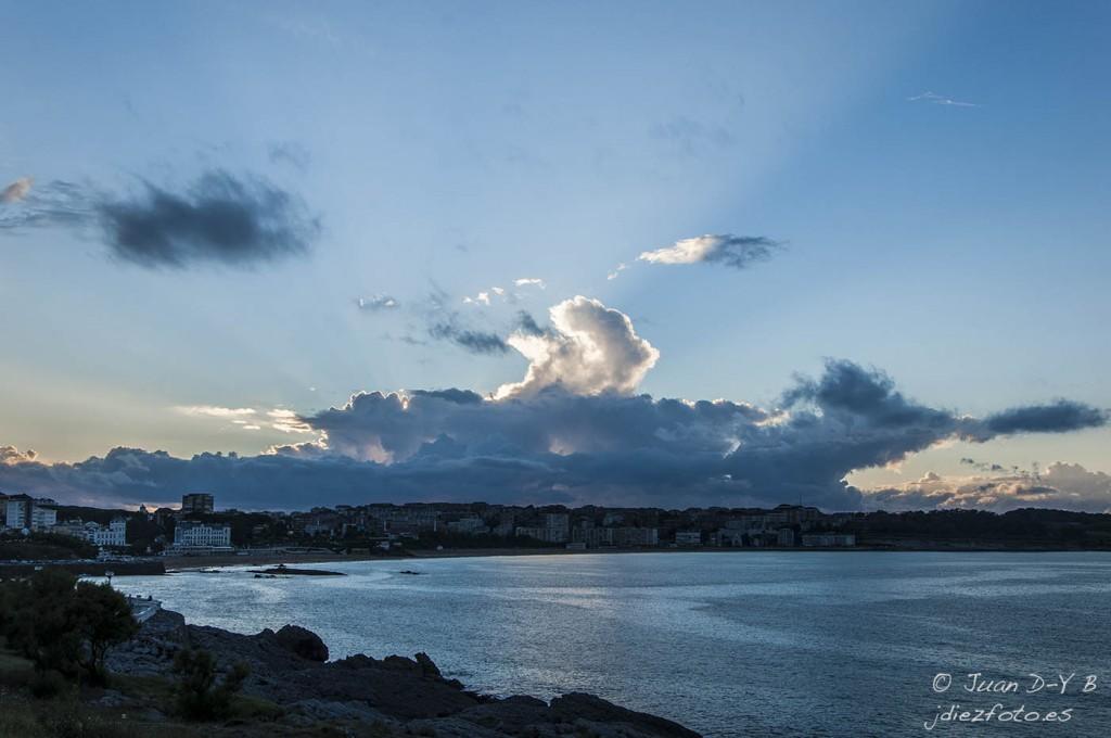 Nubes sobre la Playa del Sardinero