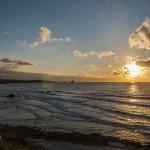 Momentos del atardecer desde los acantilados de Liencres y la Playa de Valdearenas