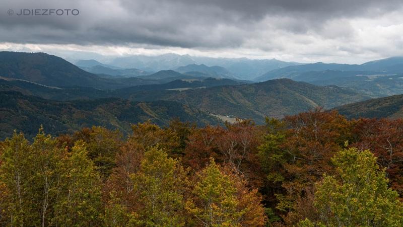 Pirineos desde el Mirador de Pikatua