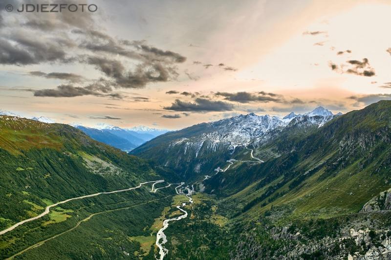 Alpes Suizos. Carretera de Furkapass