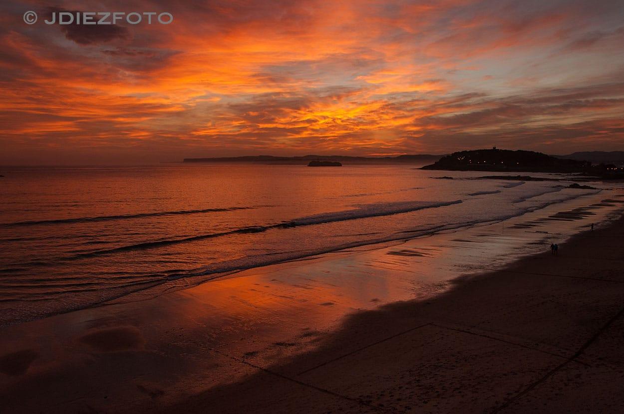 Amanecer Playa del Sardinero