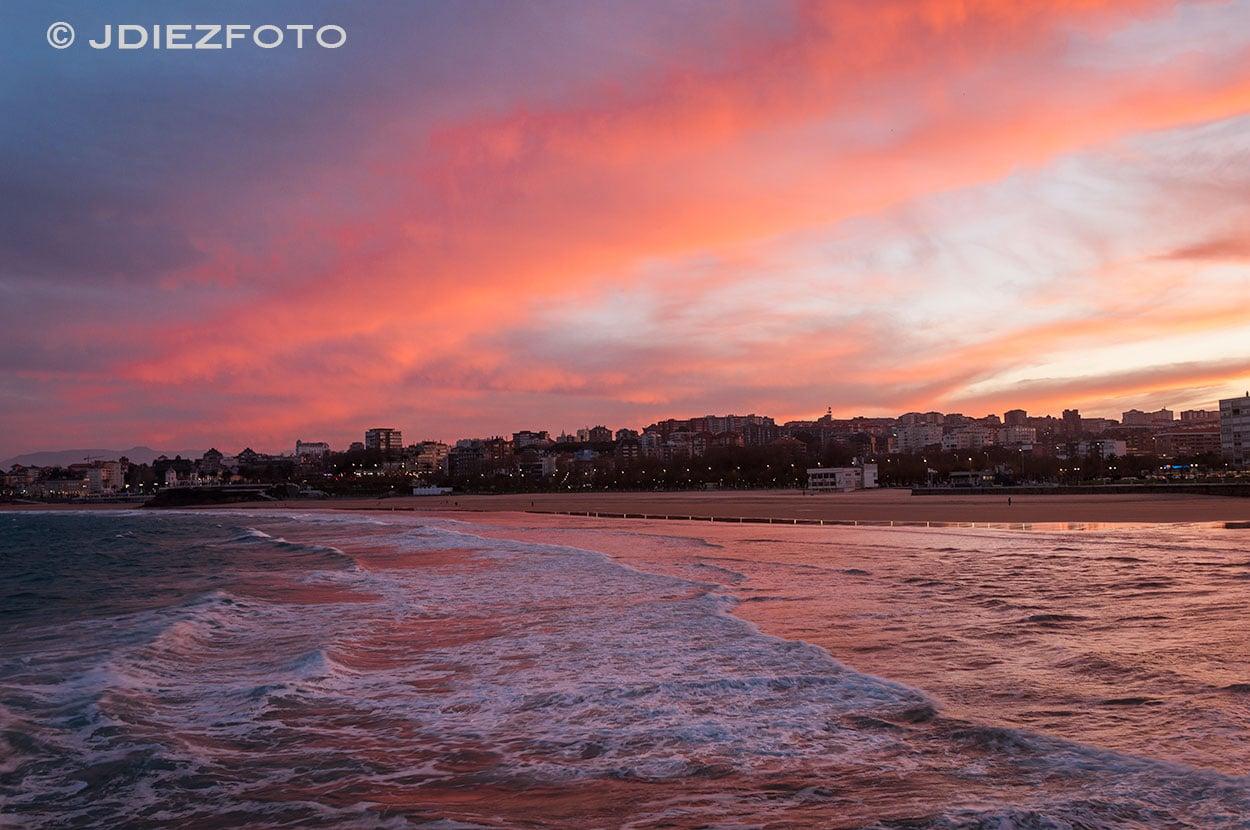 Atardecer Playa del Sardinero