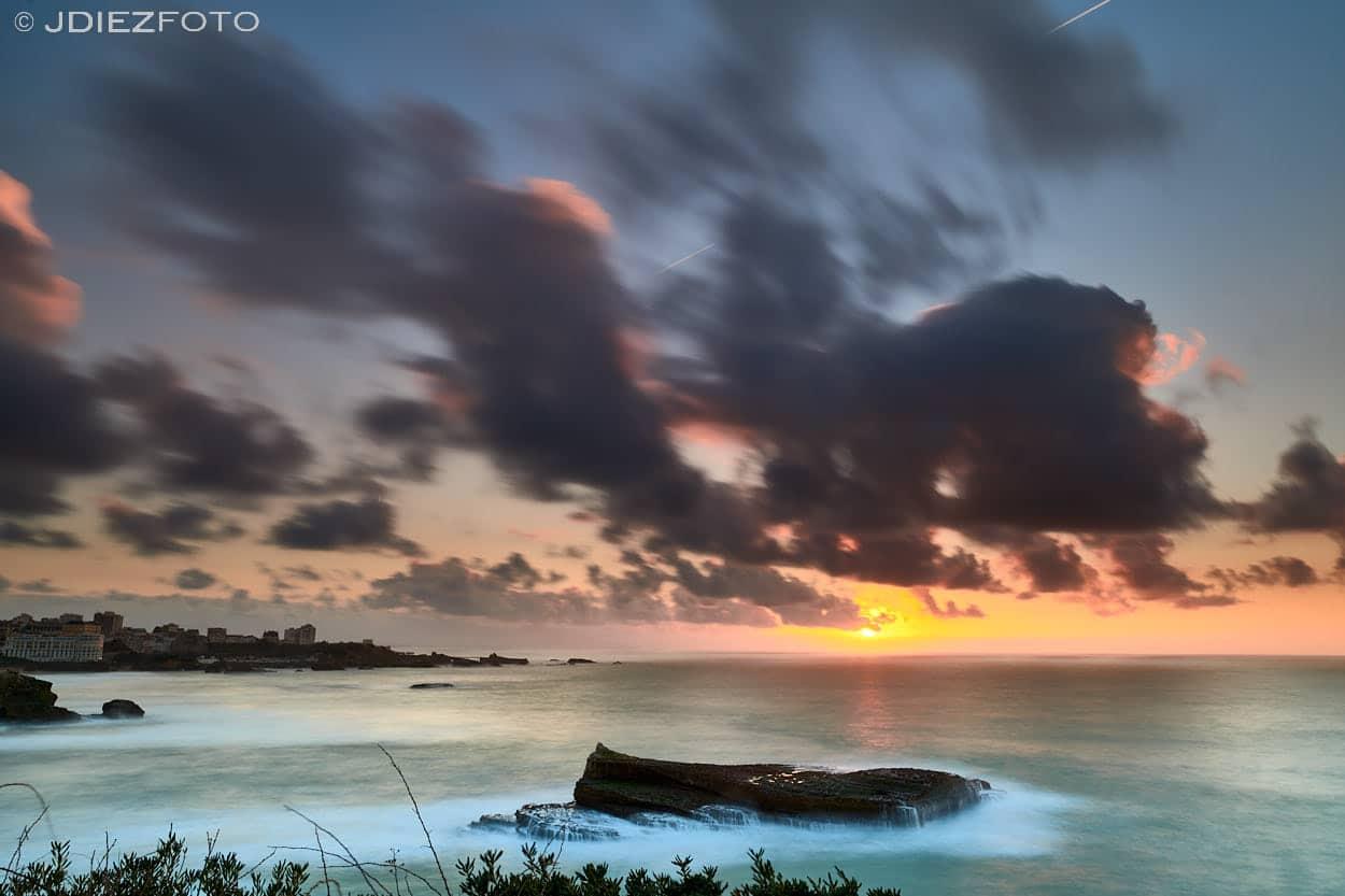 Puesta de Sol desde el Faro de Biarritz