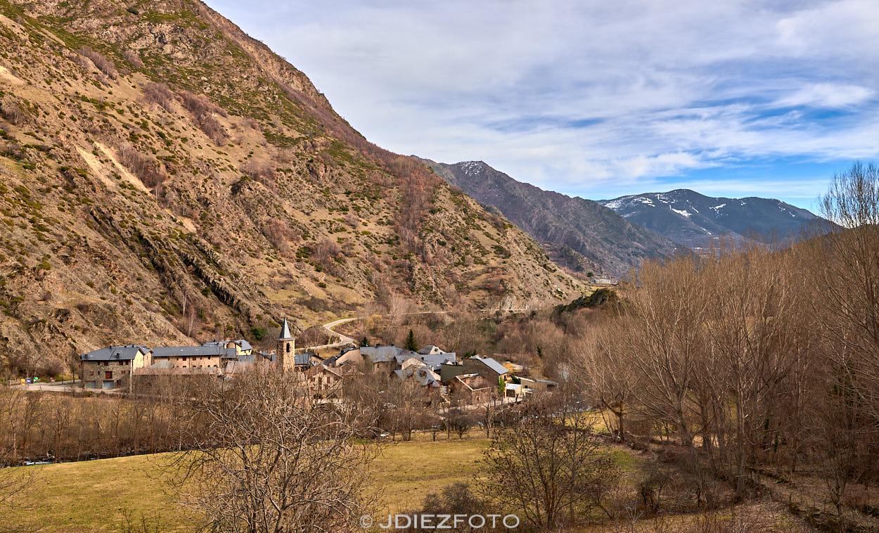Panorámica del pueblo de Borén