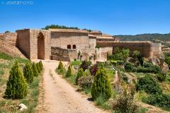 Arco de Cozagón y la plaza de toros de Brihuega