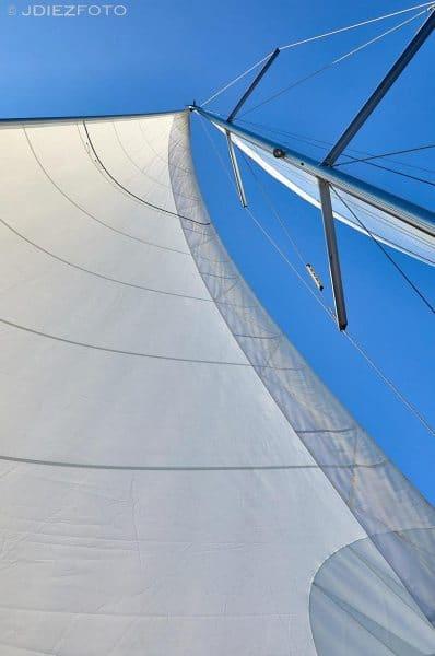Navegando en Santorini