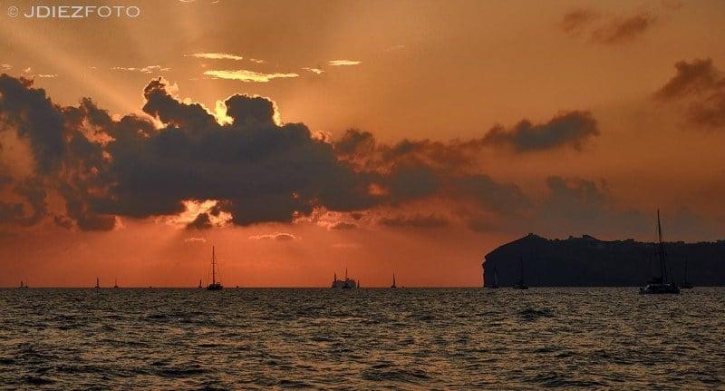 Puesta de sol Caldera de Santorini