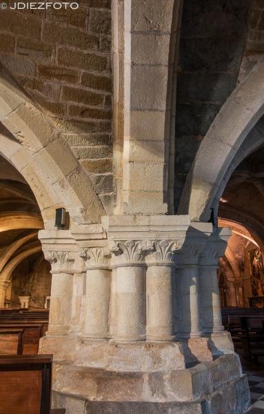 Columnas de la Iglesia del Cristo. Catedral de Santander