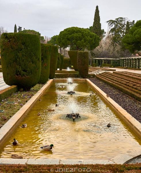 Fuentes en los Jardines de Cecilio Rodríguez