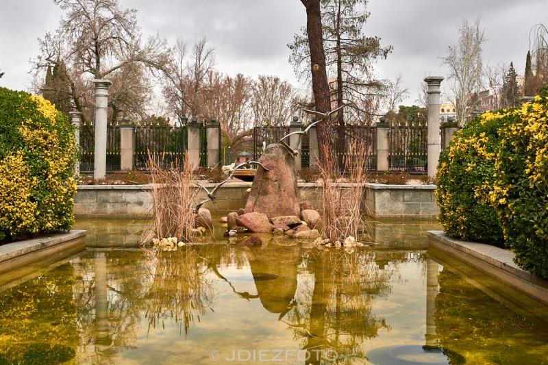 Fuente de las gaviotas. Jardines de Cecilio Rodríguez