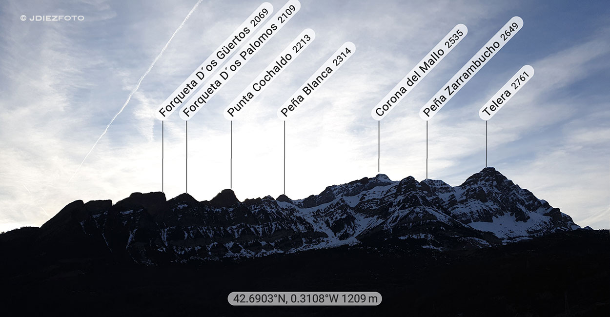 Peak Finder Mirador Hoz de Jaca (Sierra de Partacua)