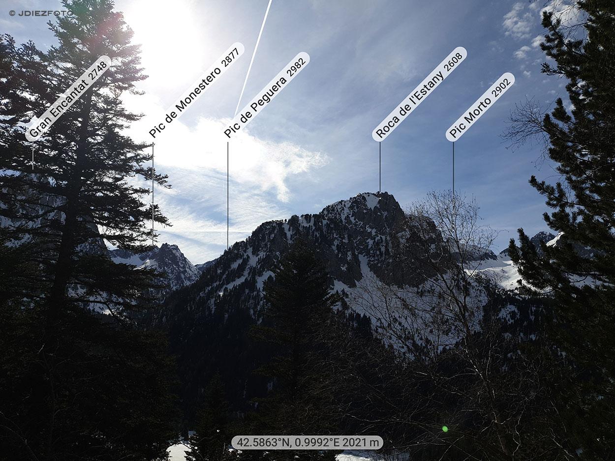 Roca del Estany desde la Ruta al Lago de Ratera