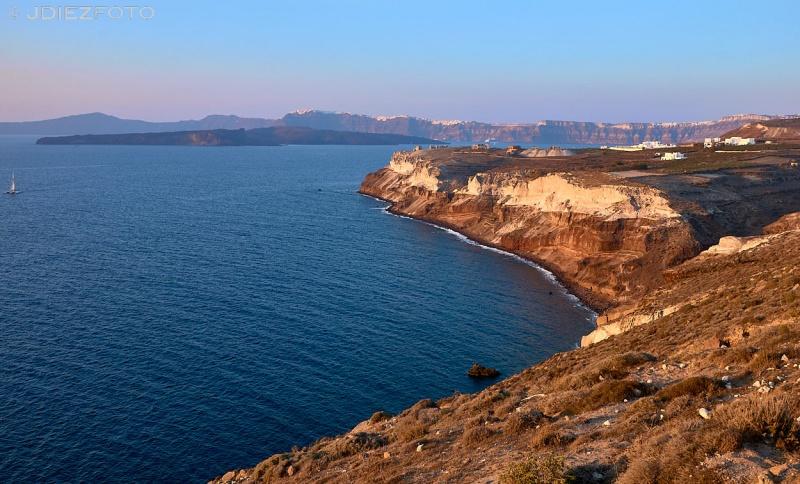 Hora dorada en el Faro de Akrotiri
