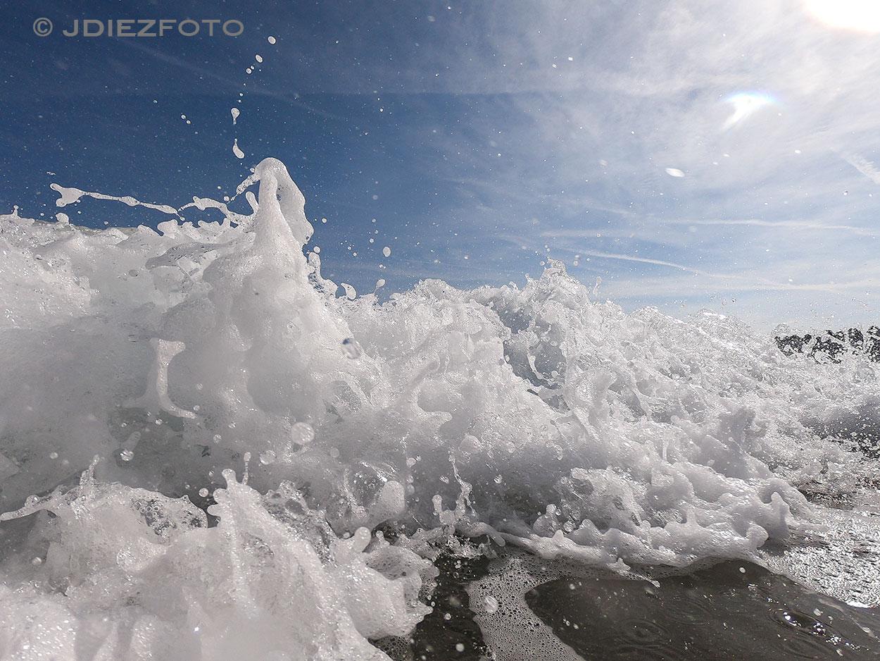 Espuma de las olas