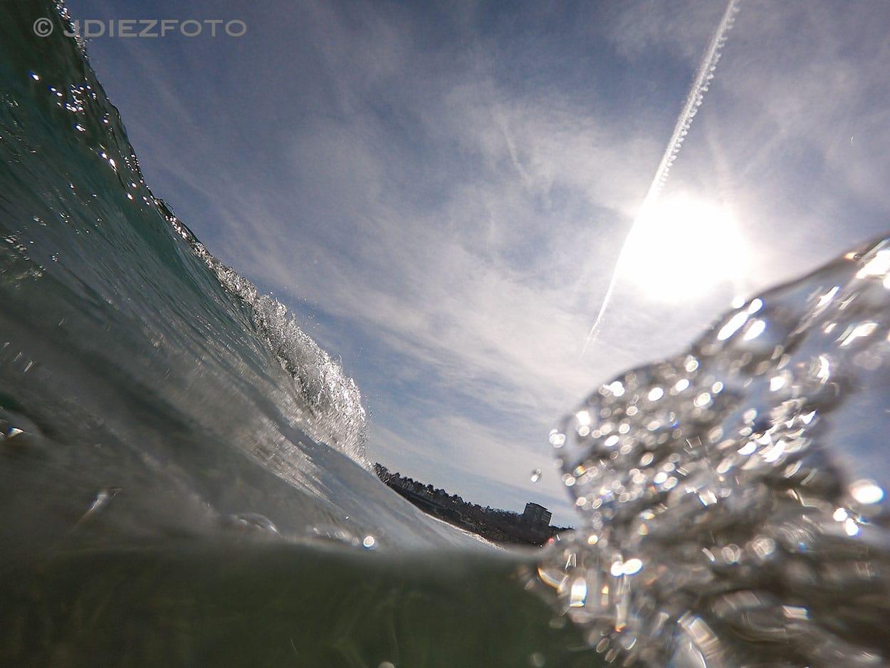Ola en la Playa del Sardinero