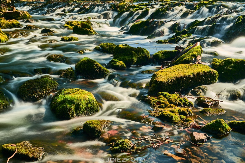 Río Aguanaz en Hoznayo. Fuente del Francés