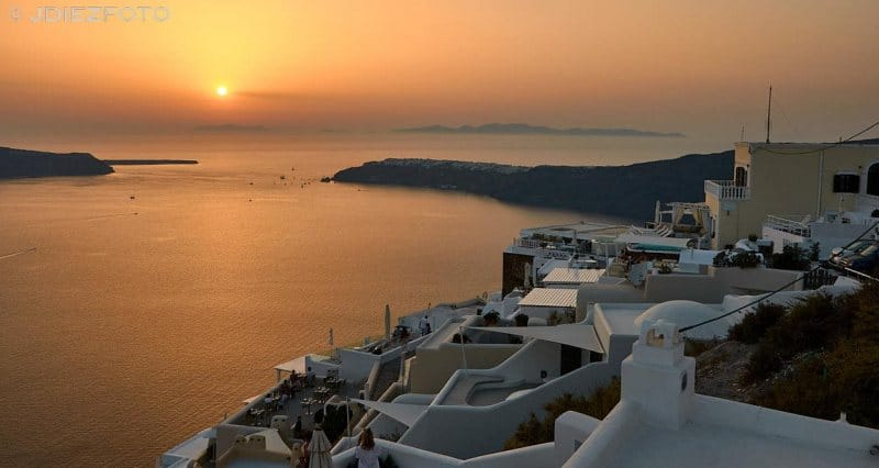 Puesta de sol Imerovigli. Santorini