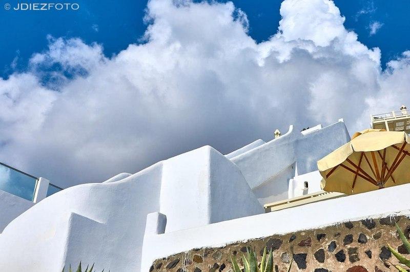 Cielo desde las construcciones de Fira