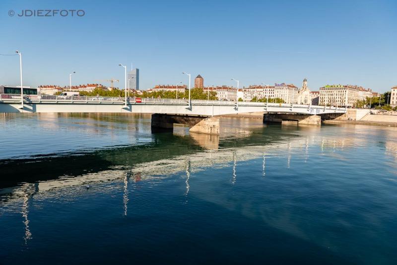 Río Ródano en Lyon
