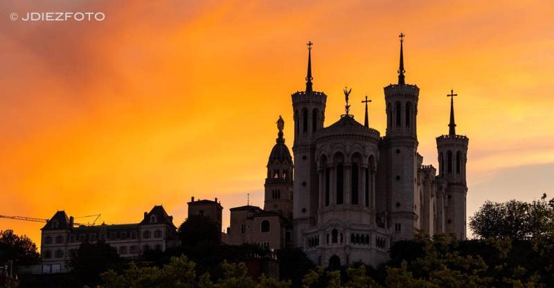 Atardecer en Notre Dame de Fourviere