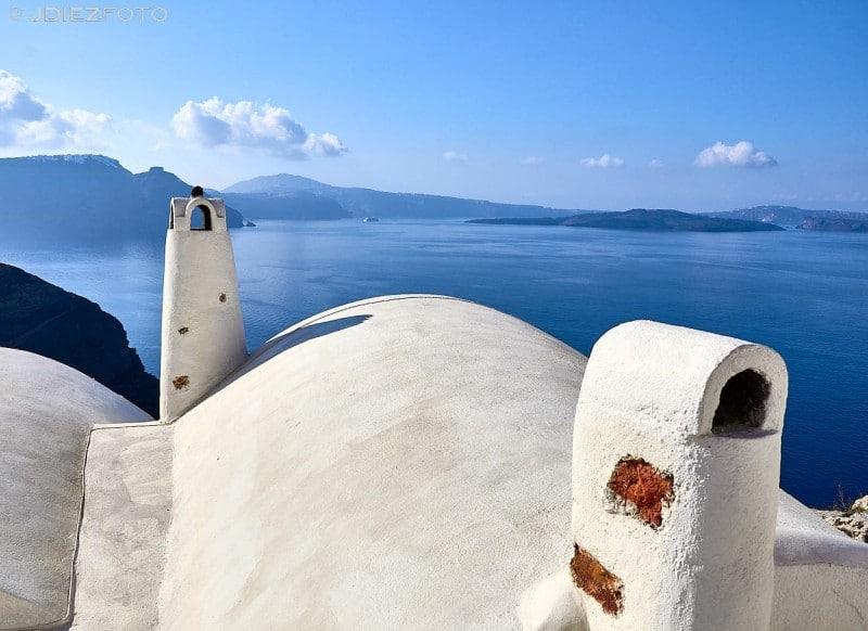 Chimeneas en Oia. Santorini