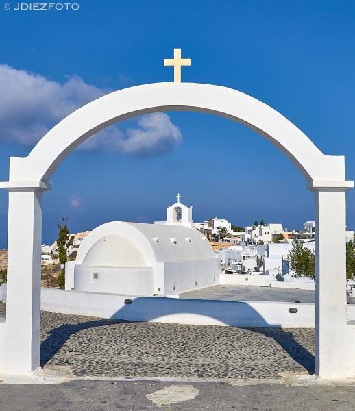 Capilla de Oia en Santorini