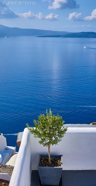 Vistas a la caldera de Santorini en Oia