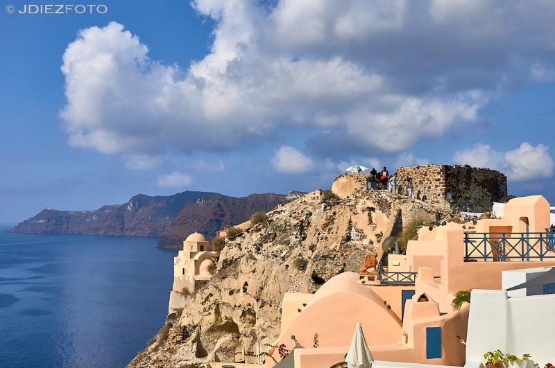 Acantilados de Oia en Santorini