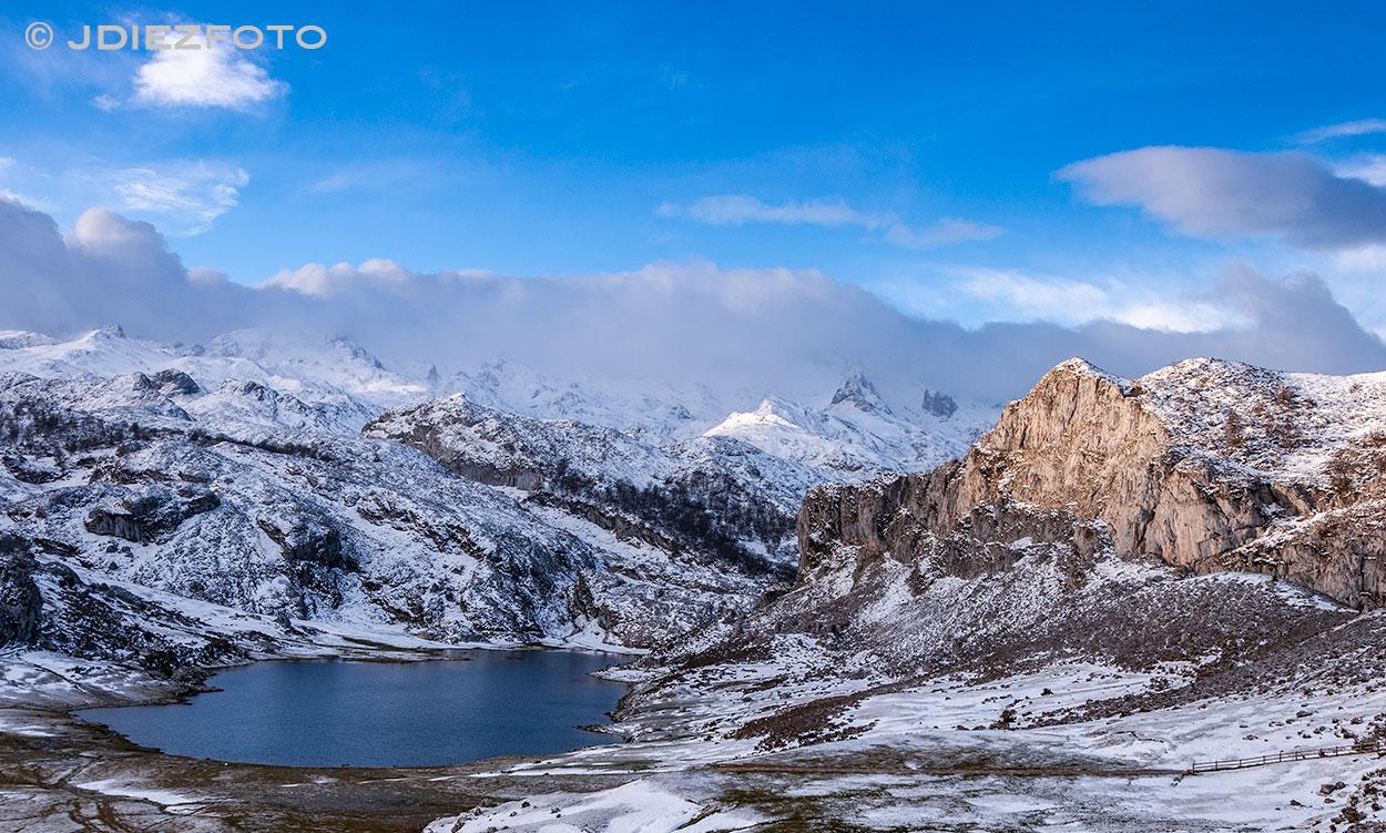Luces después del amanecer Lago Ercina