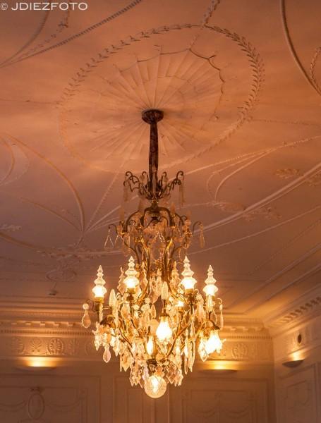 Lámpara de la sala de baile del Palacio de la Magdalena