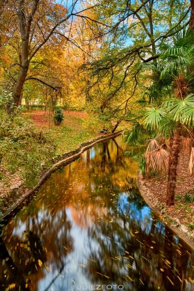 Otoño en los puentes del Parque del Retiro