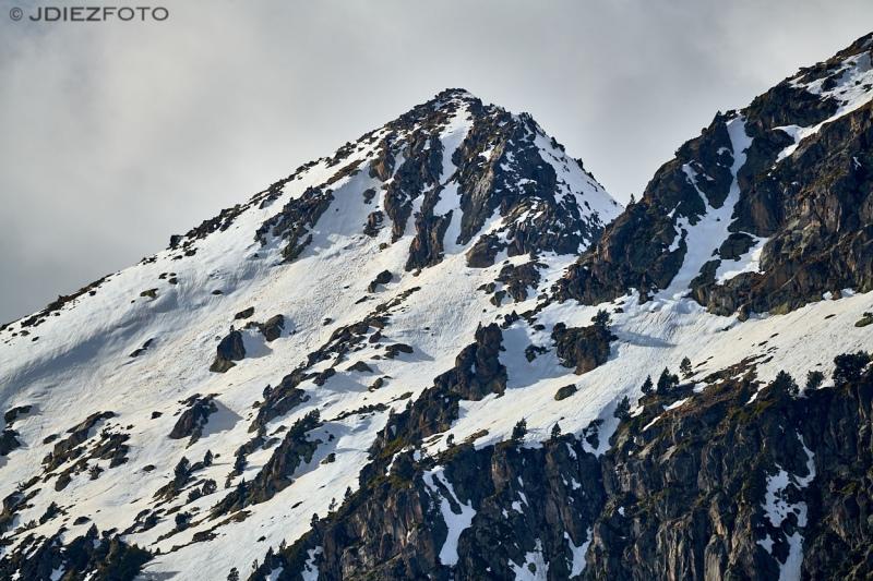 Pico del Portarró desde el Lago de San Marucio en el Parque Nacional de Aigüestortes