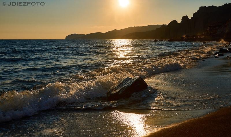 Playa de Vlychada en Santorini