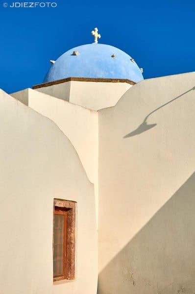 Blue dome en Emporio Santorini