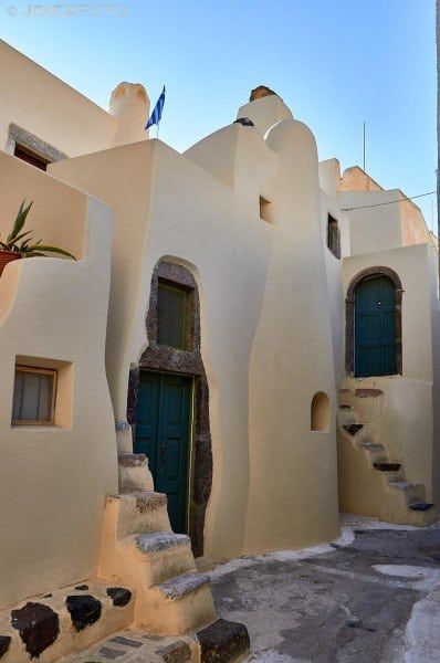 Calles de Emporio en Santorini