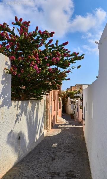 Calles de Finikia. Santorini