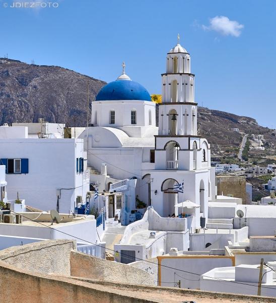 Iglesia de San Averkios Pyrgos Kallistis. Santorini