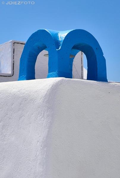 Chimenea Pyrgos Kallistis en Santorini