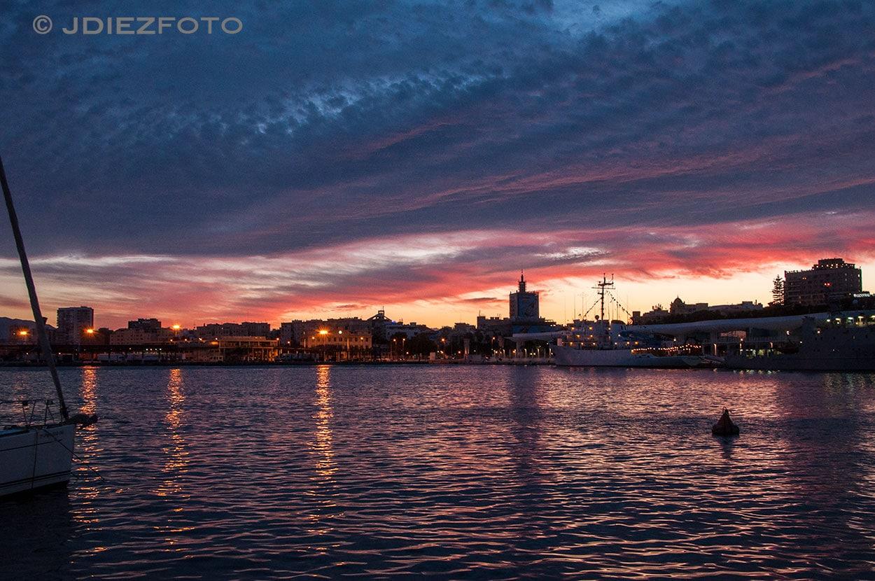 Puesta de Sol Puerto Málaga